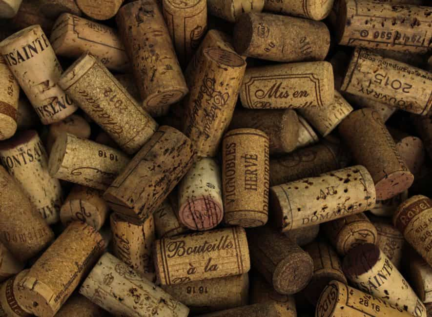 Collection of wine and liquor bottle corks