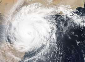 NASA photo from space of typhoon